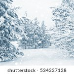Bright Winter Landscape With...