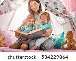 happy loving family. pretty... | Shutterstock . vector #534229864