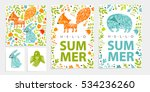 vector set illustration with... | Shutterstock .eps vector #534236260