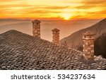 amazing view from a slate roof... | Shutterstock . vector #534237634