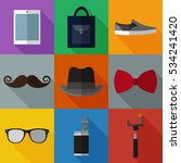 set of simple hipster accessory ... | Shutterstock .eps vector #534241420