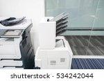 modern printer machine with... | Shutterstock . vector #534242044