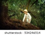 teen blond in a straw hat...   Shutterstock . vector #534246514