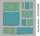vector cards with abstract... | Shutterstock .eps vector #534246688