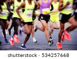 international marathon runner | Shutterstock . vector #534257668