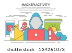 concept of online data and... | Shutterstock .eps vector #534261073
