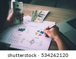 working place of trader. the... | Shutterstock . vector #534262120