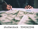 working place of trader. the...   Shutterstock . vector #534262246