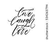 live  laugh  love postcard.... | Shutterstock .eps vector #534263794