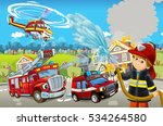 cartoon stage with different... | Shutterstock . vector #534264580