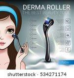 derma roller ads. vector... | Shutterstock .eps vector #534271174