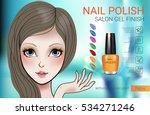 nail polish ads. vector... | Shutterstock .eps vector #534271246