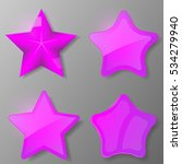 set of violet stars. collection ...