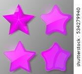 set of violet stars. collection ...