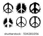 pacifist peace symbols set.... | Shutterstock .eps vector #534281056