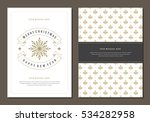 christmas greeting card or... | Shutterstock .eps vector #534282958