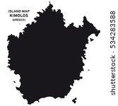 island map of kimolos  greece  | Shutterstock .eps vector #534283588