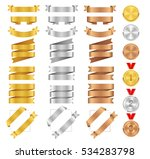 set of golden  silver  bronze... | Shutterstock .eps vector #534283798