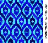 ethnic seamless blue pattern.... | Shutterstock .eps vector #534283900
