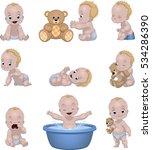 vector illustration set of... | Shutterstock .eps vector #534286390