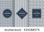 blue line seamless pattern...   Shutterstock .eps vector #534288574