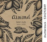 almond tree design template.... | Shutterstock .eps vector #534292849