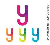 letter y vector unusual bold... | Shutterstock .eps vector #534294790