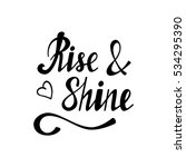 hand written lettering rise  ... | Shutterstock .eps vector #534295390