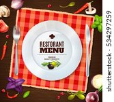 restaurant menu front page with ... | Shutterstock .eps vector #534297259