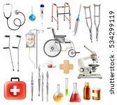 healthcare medical accessories... | Shutterstock .eps vector #534299119