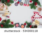 set of christmas make up...   Shutterstock . vector #534300118