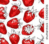 seamless pattern with red... | Shutterstock .eps vector #534300346