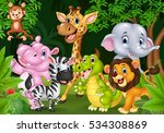 cartoon wild animal in the... | Shutterstock .eps vector #534308869