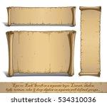 set of three vector cartoon... | Shutterstock .eps vector #534310036