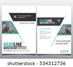 abstract vector modern flyers... | Shutterstock .eps vector #534312736