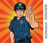 Retro Police Officer Stop...