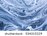 creative ebru background with... | Shutterstock . vector #534315229