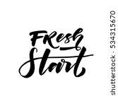fresh start postcard. hand... | Shutterstock .eps vector #534315670