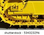 bulldozer tracks and drive gear ... | Shutterstock . vector #534323296