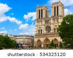Notre Dame Cathedral Facade In...