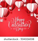 happy valentines day greetings... | Shutterstock .eps vector #534326038