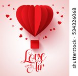 love is in the air typography... | Shutterstock .eps vector #534326068