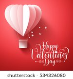 happy valentines day vector... | Shutterstock .eps vector #534326080