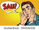 wow man sale pop art...   Shutterstock . vector #534326530