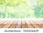 empty wooden table with party... | Shutterstock . vector #534326629