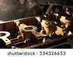 open block of four cylinder... | Shutterstock . vector #534326653