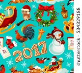 new year and christmas holidays ... | Shutterstock . vector #534329188