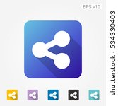 colored icon of share symbol... | Shutterstock .eps vector #534330403
