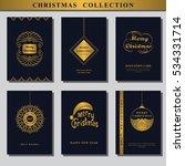set of christmas invitations.... | Shutterstock .eps vector #534331714