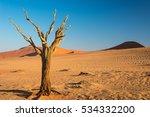 the scenic sossusvlei and... | Shutterstock . vector #534332200